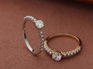 パールのエタニティーのアンティークな結婚指輪(婚約指輪)エルドーセレクトブランド『カツキ』