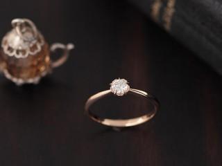 桜の花のアンティークな結婚指輪(婚約指輪)エルドーセレクトブランド『カツキ』