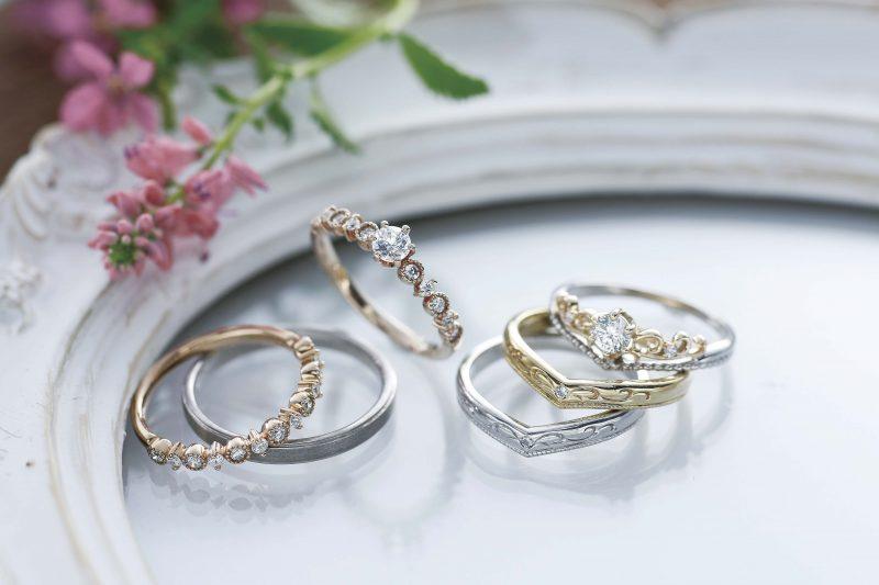 理想を叶えた夢のような婚約指輪・結婚指輪。
