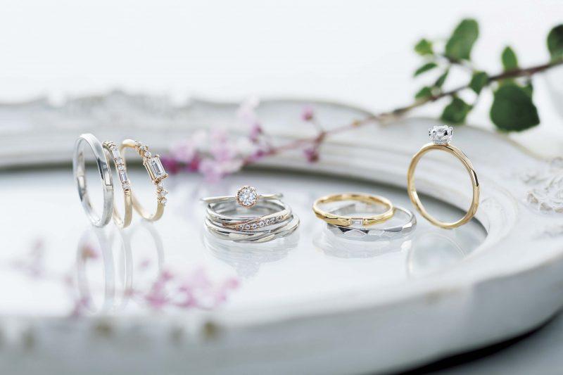 代わって、婚約指輪(ダイヤモンド付)+結婚指輪セレクト
