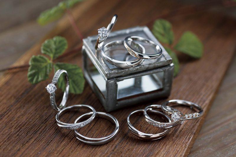 婚約指輪(ダイヤモンド付)+結婚指輪セレクトセット