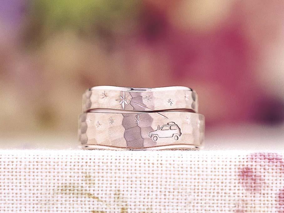 想い出をモチーフにした結婚指輪