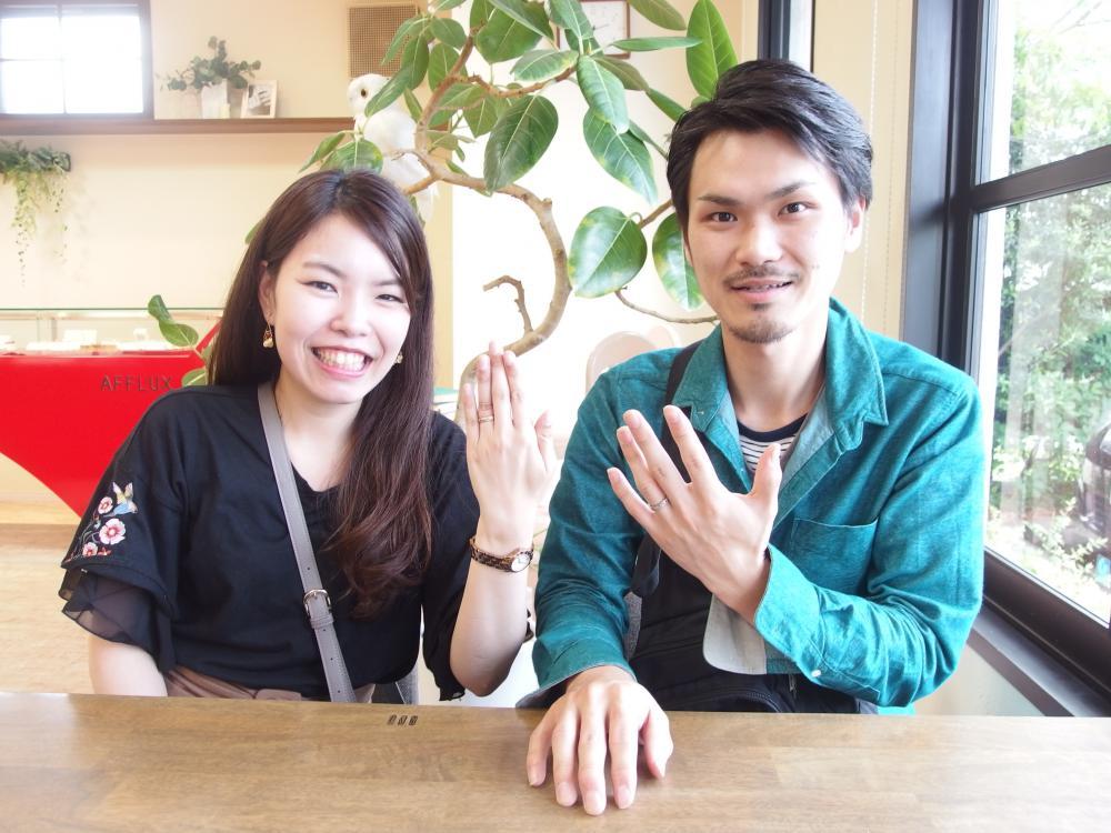 福山市引野町の崎新谷様ご夫妻(結婚指輪ご購入)