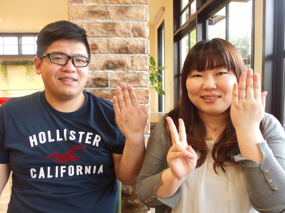 広島市の桑本様ご夫妻(結婚指輪ご購入)