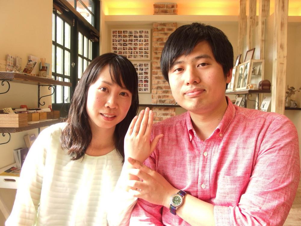 福山市手城町の田辺さまご夫妻(婚約指輪をご購入)
