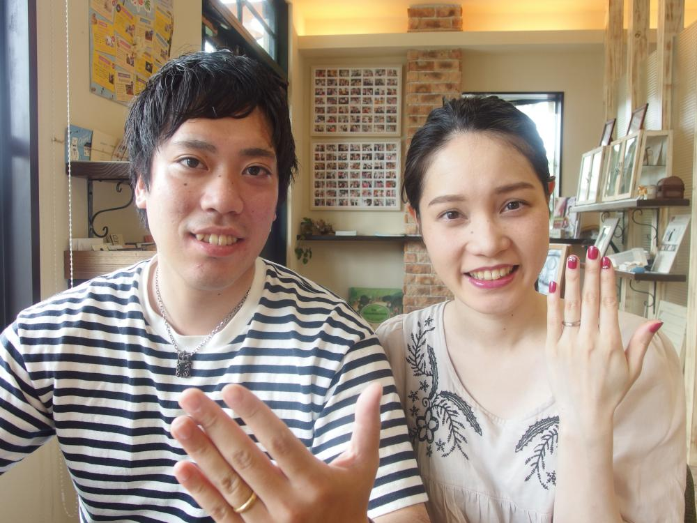 広島県広島市の大下様ご夫妻(結婚指輪をご購入)