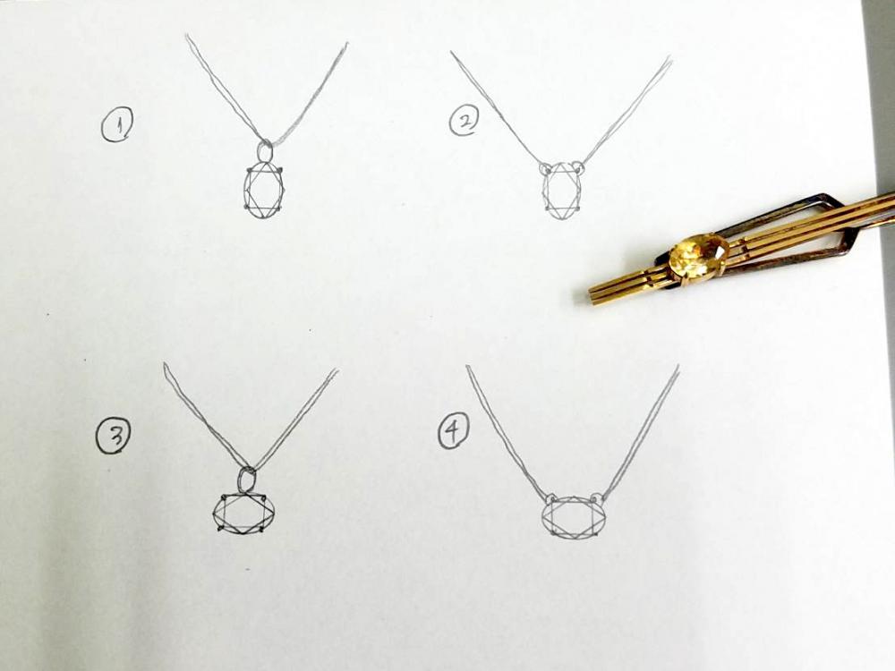 シトリン天然石のリフォームデザインイメージデッサン