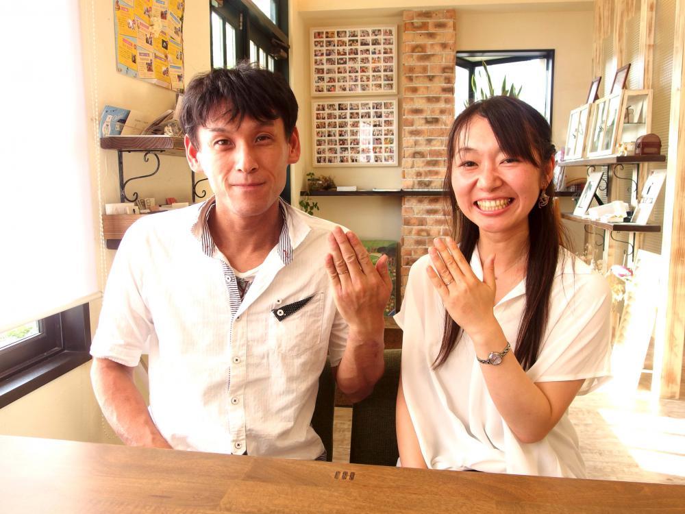 広島県三原市の西田様ご夫妻(結婚指輪ご購入)