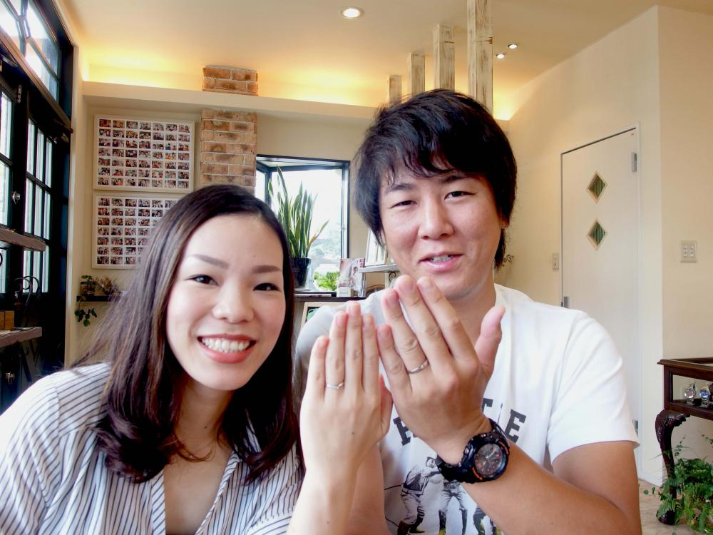 尾道市の瀬戸様ご夫妻(結婚指輪ご購入)