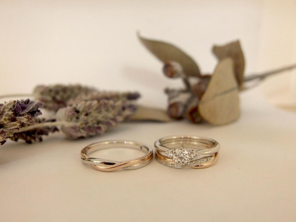 エルドーオリジナルの3本セットリング(結婚指輪・婚約指輪)の『エルドラド』