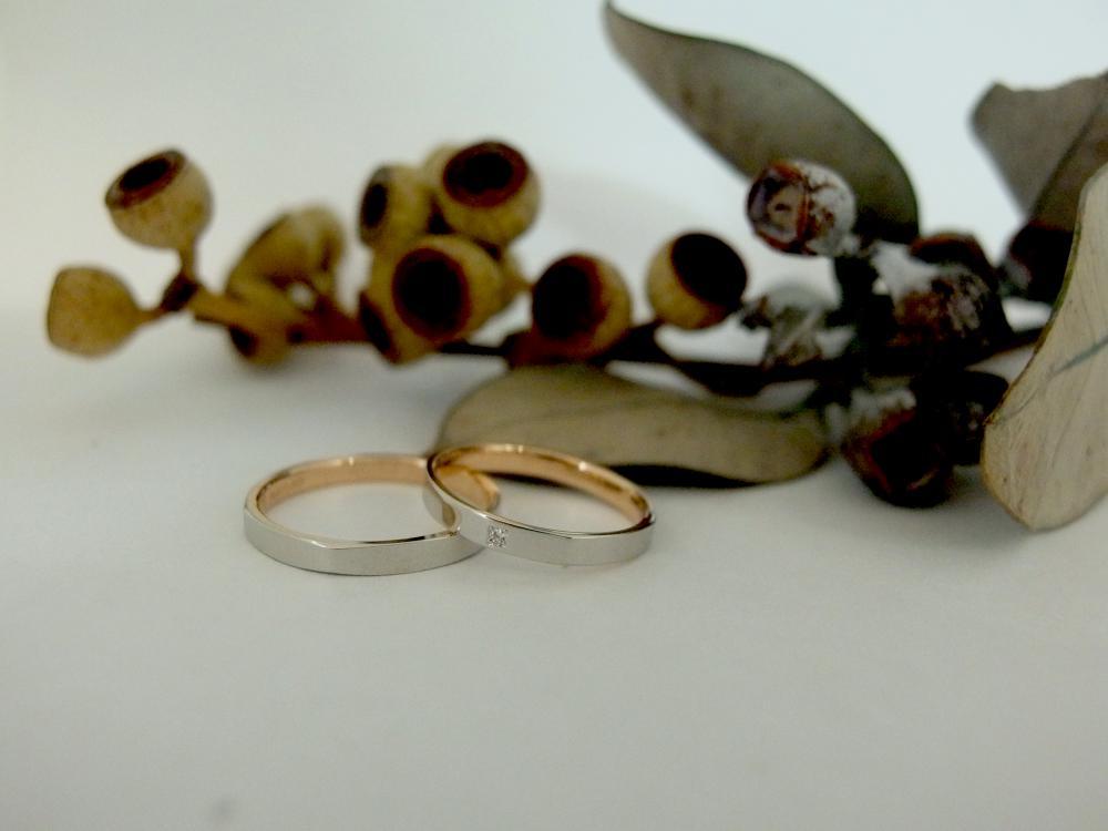 エルドーセレクトブランドの結婚指輪 『ロゼ・マリアージュ』
