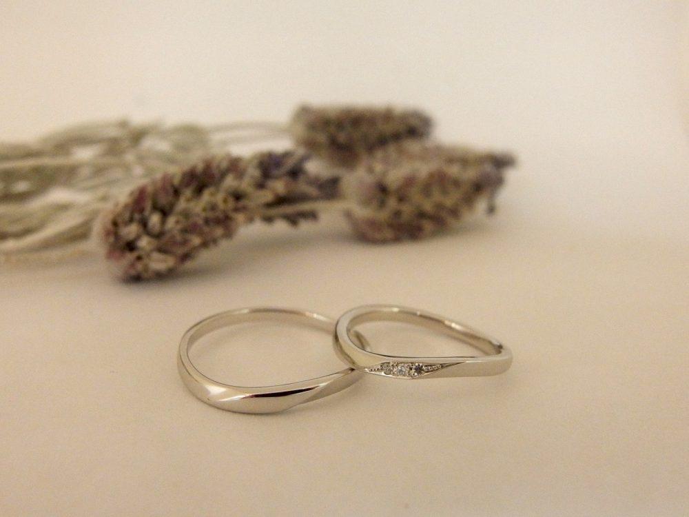 エルドーセレクトブランドのSライン結婚指輪『マリエ・マリ』