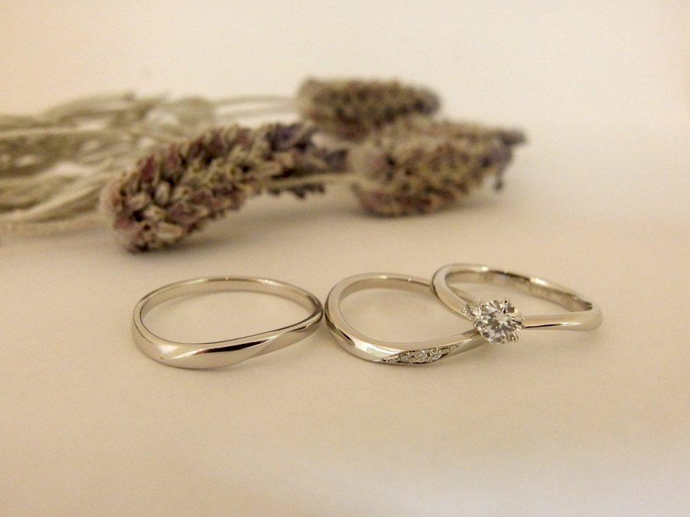 エルドーオリジナル3本セットの結婚指輪『メリア』