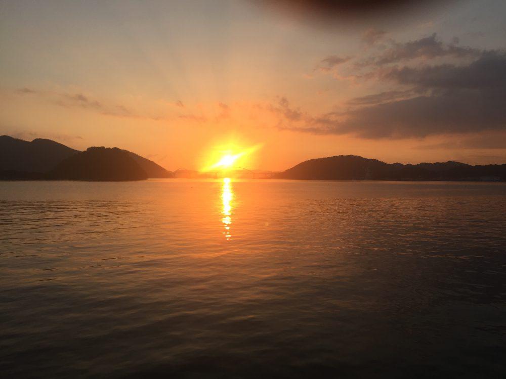福山市内海町での綺麗な夕日