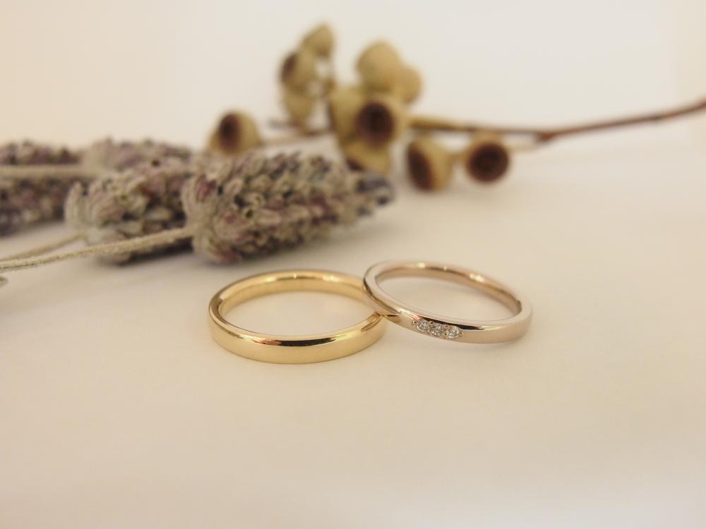 エルドーセレクトブランドゴールドのシンプル結婚指輪『ミルエタニティー』