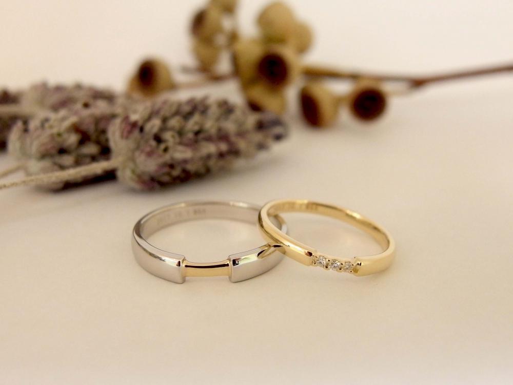エルドーオリジナルのコンビの結婚指輪の『ル・ミュジック』
