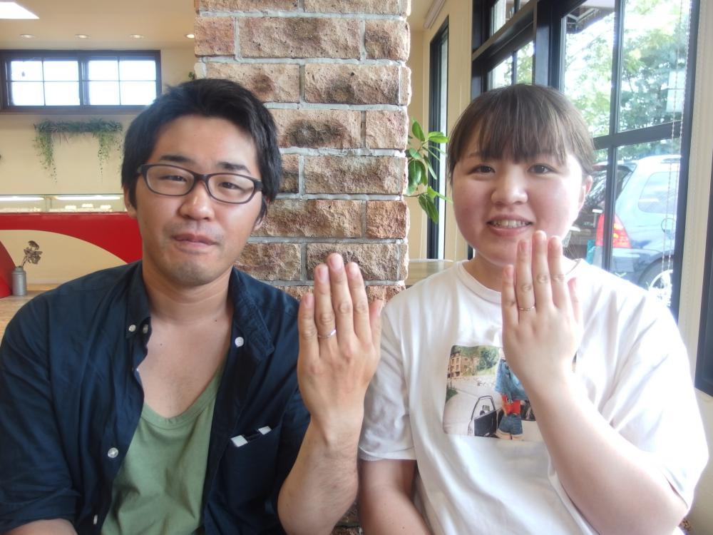 福山市駅家町の藤井様ご夫妻(結婚指輪ご購入)