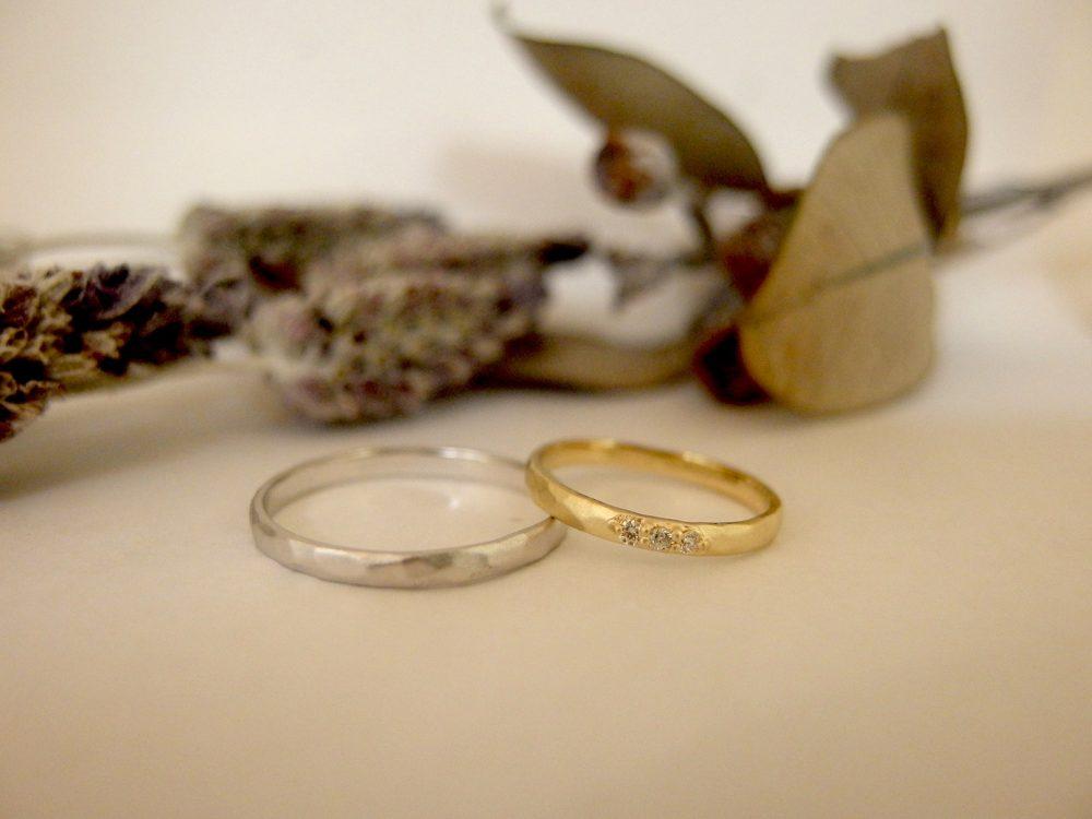 エルドーオリジナルアンティークな結婚指輪『シュシュ』