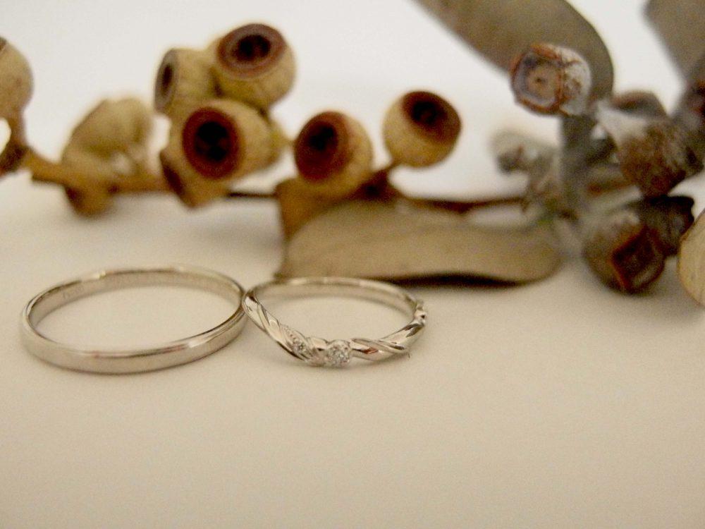 エルドーセレクトブランド『アフラックス』オリジナルの『メリア』の結婚指輪