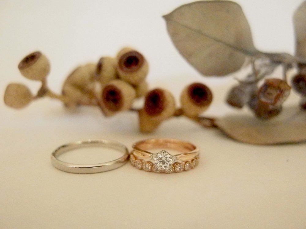 エルドーオリジナル3本セットリング『メリア』の結婚指輪