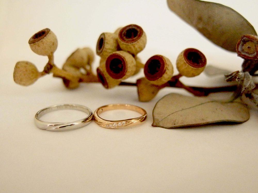 エルドーオリジナルのK18PGの結婚指輪『メリア・エルドラド』