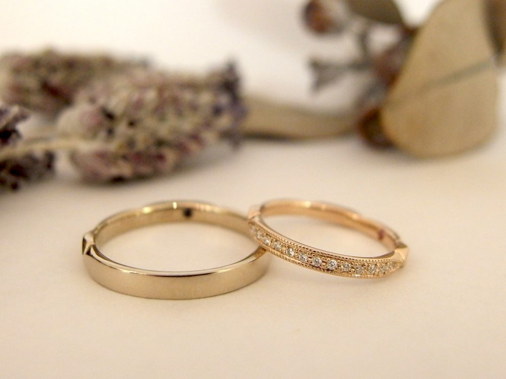 エルドーセレクトブランドアンティークなエタニティー結婚指輪『アフラックス』