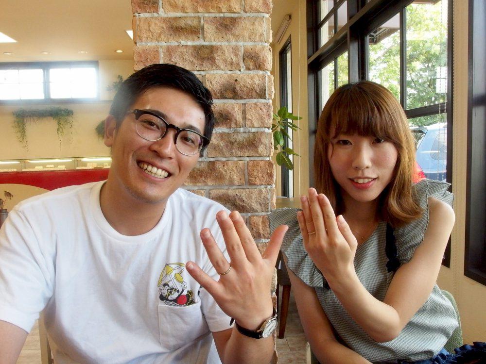 岡山県倉敷市の斉藤様ご夫妻(マリッジリングご購入)