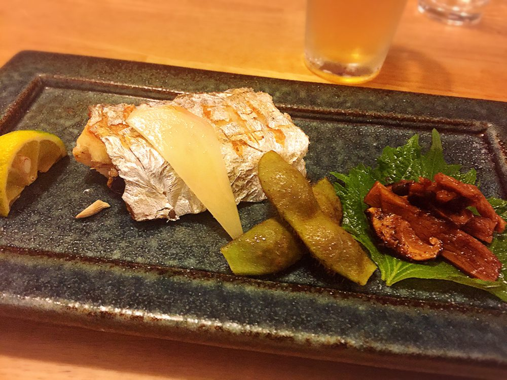 今が旬の魚タチウオの塩焼きです。