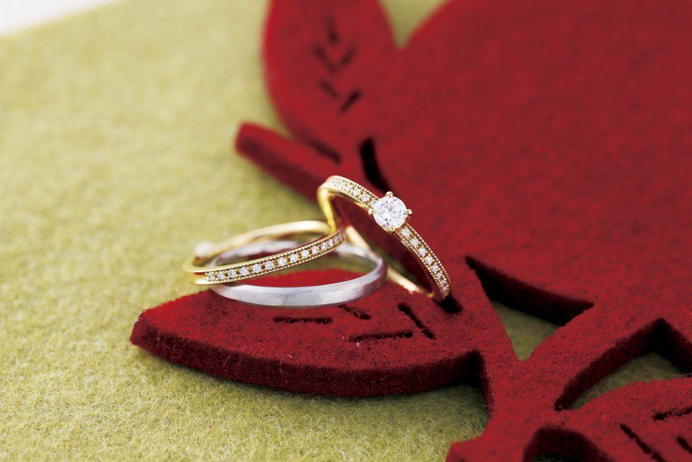 クリスマスは一生お揃いの結婚指輪を