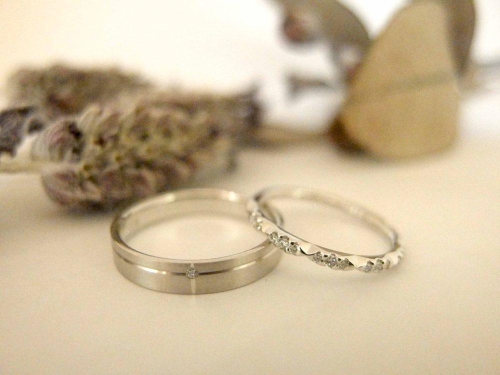エルドーオリジナル結婚指輪『メリア・サムシングブルー』