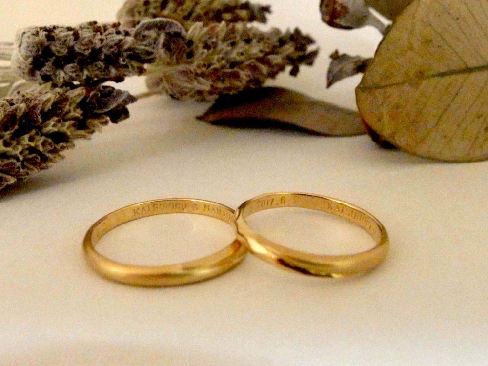 エルドーセレクトブランド『カツキ』の結婚指輪