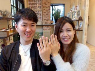 福山市引野町の近藤様ご夫妻(結婚指輪ご購入)
