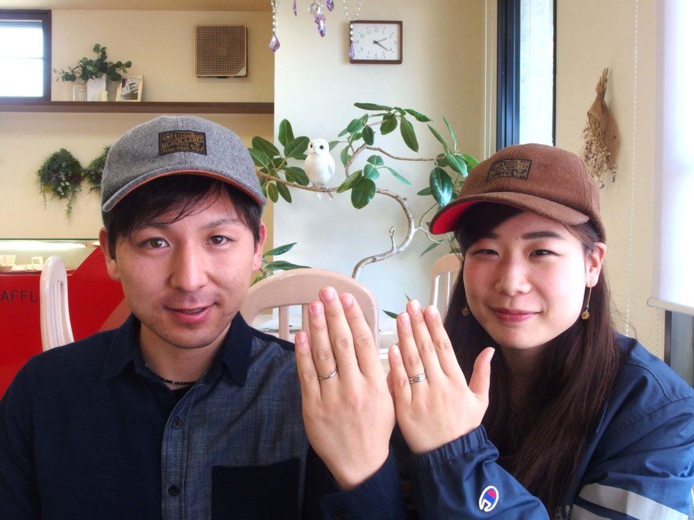 福山市手城町の関永ご夫妻(結婚指輪のご紹介)