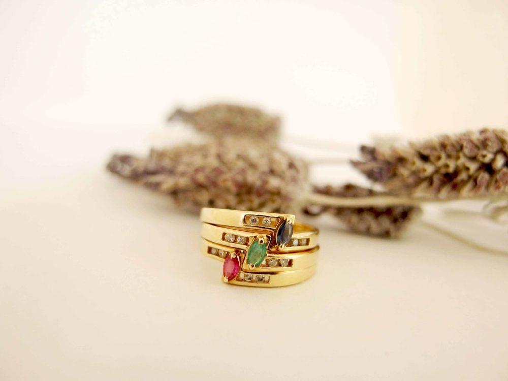 3連の指輪からできたお孫さんへのプレゼント