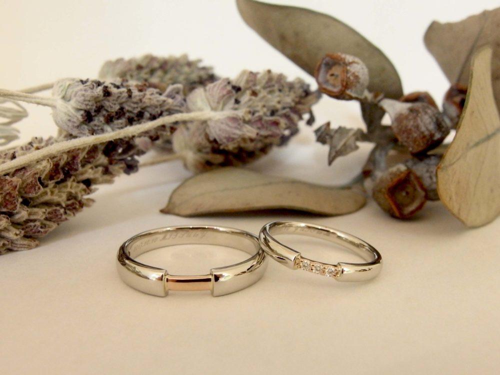 エルドーオリジナルでコンビデザインの『ル・ミュジック』の結婚指輪