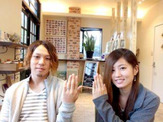 広島県尾道市の金本様ご夫妻(マリッジリングをご購入)