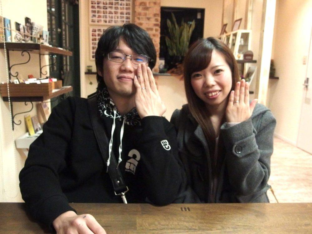 福山市曙町の小西様ご夫妻(結婚指輪ご購入)