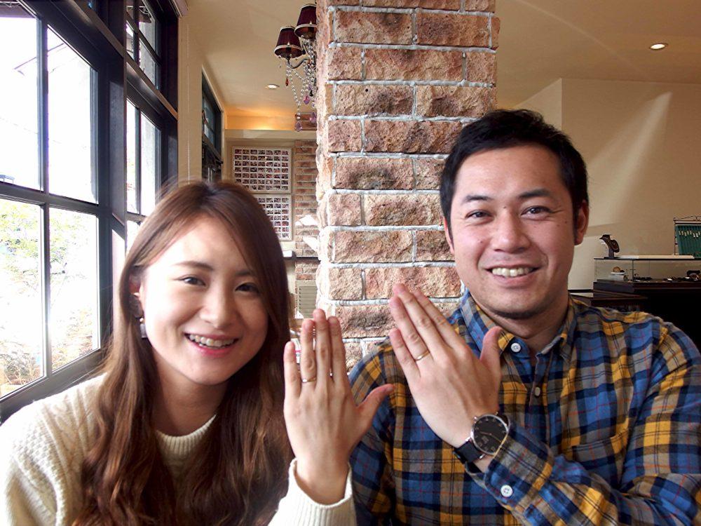 尾道市の景山様ご夫妻(結婚指輪ご購入)