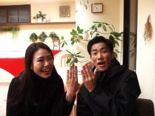 福山市西町の福島様ご夫妻(結婚指輪をご購入)