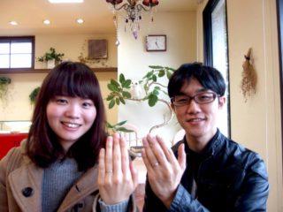 福山市手城町の宇佐美ご夫妻(結婚指輪をご購入)