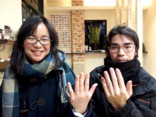 福山市御幸町の吉川様ご夫妻(結婚指輪をご購入)
