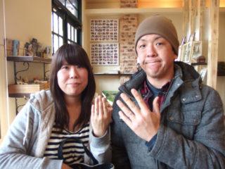 福山市沼隈町の山本様ご夫妻(結婚指輪をご購入)