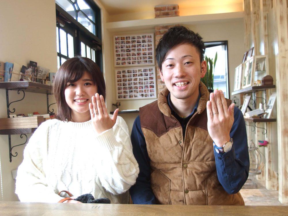 岡山県笠岡市の吉岡様ご夫妻(マリッジリングをご購入)