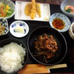 福山市新涯町の肉ニラランチとデザート