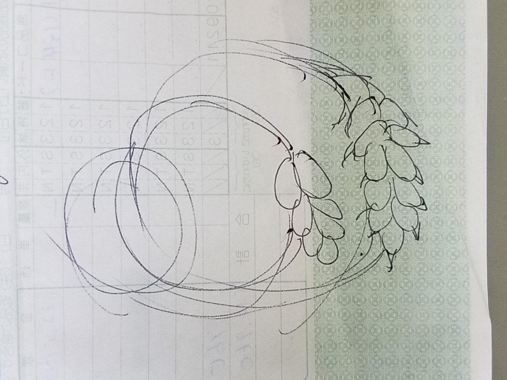 フルオーダー指輪のイメージデッサン