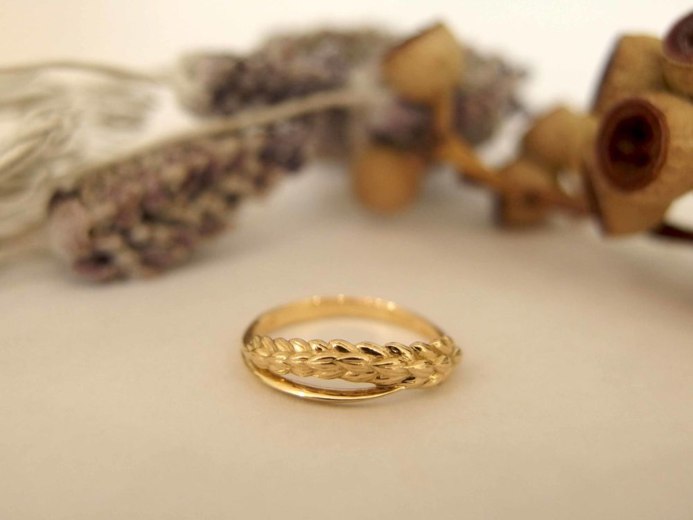 稲穂のフルオーダーの婚約指輪