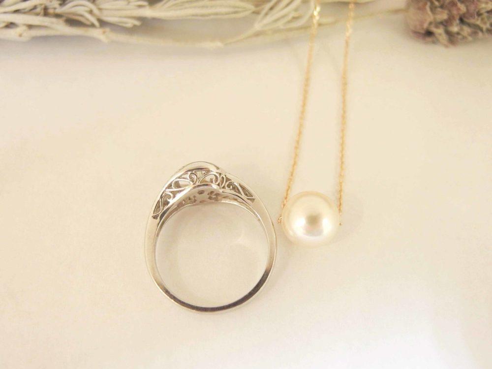 指輪から簡単なリフォームでネックレスに!