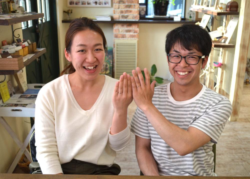 福山市高西町の石田様ご夫妻(マリッジリングをご購入)