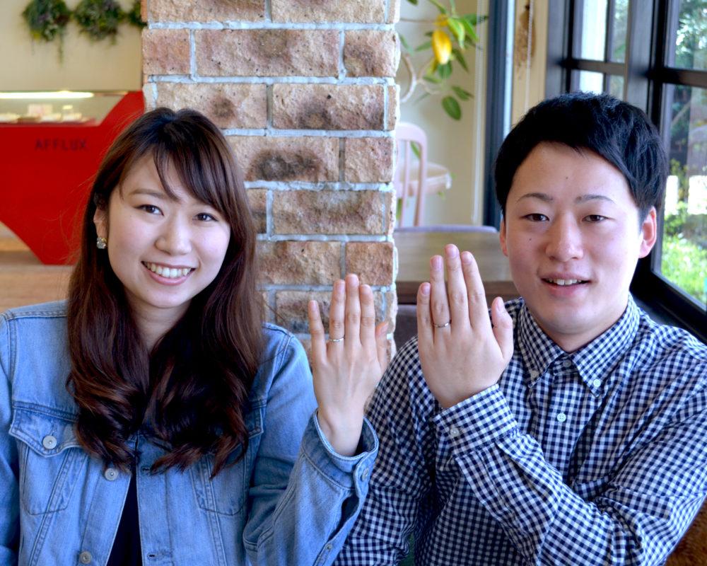 福山市山手町の宮地様ご夫妻「結婚指輪をご購入」