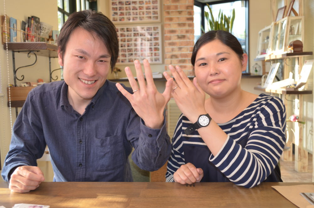 福山市新市町の西山様ご夫妻(マリッジリングをご購入)